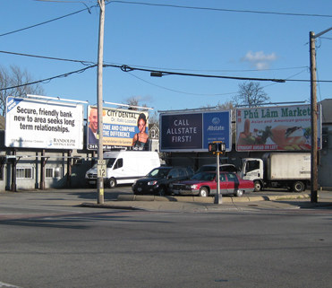 Billboards on One of Cranstons Most Visible Corners